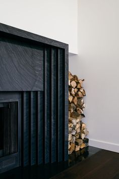 Architecture Details, Interior Architecture, Interior And Exterior, Fireplace Surrounds, Fireplace Design, Modern Fireplace Mantles, Concrete Fireplace, Fireplace Ideas, Toronto Apartment
