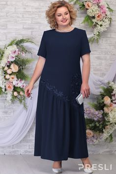 Платье Ninele 5789 тёмно-синий