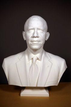 El Repertorio de Refritos: Obama escaneado e impreso en 3D (Vídeo)
