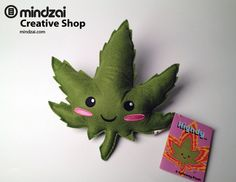 Highdy Plush Doll, $14.99. The coolest marijuana leaf out there.