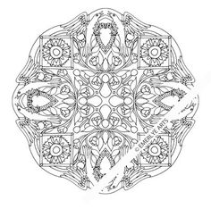 DIGITAL DOWNLOAD.  This is a complex coloring page designed by Cynthia Emerlye. It is sized to fit an 8.5x11 inch page when printed. Once purchased,