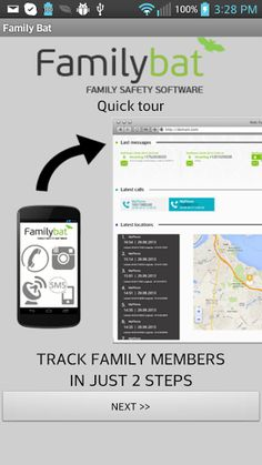 FAMILY BAT - #1 Phone Tracking App.<p>Keep Track of Your Family, Friends & Phones With GPS Technology<p>FamilyBat app  can help you:<br>* track where your kids are<br>* track your loved ones: your girlfriend or boyfriend<br>* track your Mom or anyone in your family<p>You can track:<br>- SMS text messages<br>- Phone call history<br>- Phone location and GPS tracking<br>- Phonebook<br>- Photos<br>- Browsing history<br>- Calendar<br>- Applications<p>WARNING: This is NOT A SPY SOFTWARE. The user…