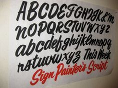 Alphabet | Sign painting casual | Pinterest | Alphabet and Set Of