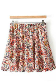 Thinking Spring! Gorgeous Vintage Pattern Print Skirt! So Pretty! #Spring #Summer  #fashion