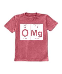 This Heather Red 'O Mg' Period Table Elements Tee - Toddler & Boys is perfect! #zulilyfinds