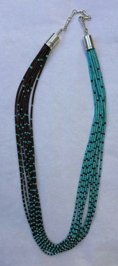 Ironwood and turquoise necklace w extender Bahti Indian Arts Tucson. Ironwood and turquoise necklace w extender Bahti Indian Arts Tucson. Layered Choker Necklace, Seed Bead Necklace, Beaded Necklace, Beaded Jewelry, Handmade Jewelry, Jewelry Necklaces, Diy Schmuck, Jewelry Patterns, Tucson