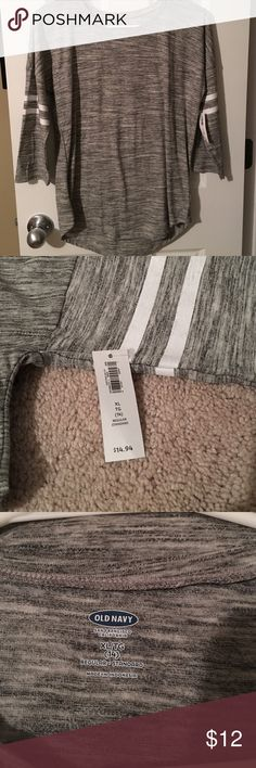Girl's Old Navy Jersey XL/14 New / 3/4 sleeves / gray Old Navy Shirts & Tops Tees - Short Sleeve