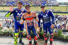 Honda's 🇪🇸 Marc 93 and Yamaha's 🇪🇸 Maverick 25 & 🇮🇹 Valentino 46