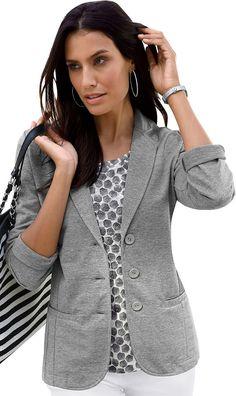 Classic Inspirationen Jersey-Blazer mit Revers-Kragen Jetzt bestellen unter: https://mode.ladendirekt.de/damen/bekleidung/blazer/sonstige-blazer/?uid=63ebd06d-c842-51a7-a49f-d06af0fd6a90&utm_source=pinterest&utm_medium=pin&utm_campaign=boards #sonstigeblazer #mäntel #blazer #bekleidung