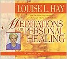 """Louise Hay -  the audio download of  """"Meditations for Personal Healing"""" is 50% off at $5.48! There are thirteen relaxing meditations to help inspire healing and daily joy. To receive your gift, visit the Hay House website, Add it to your cart and proceed. Share this special gift with your friends. I love you, and Life loves you!"""