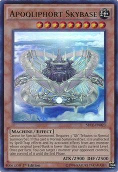 Original KONAMI Yu-Gi-Oh! Trading Card aus Secrets of Eternity  SECE-EN023  Apoqliphort Skybase (Apoqliphort-Himmelsbasis) Seltenheit: Ultra Rare - 1st Edition  GBA-Code: 40061558   Jetzt günstig bei eBay kaufen!