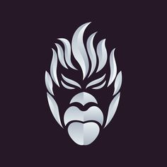 10 Clever Animal Logos Created With Negative Space Abstract Animal Art, Animal Heads, Portrait, Superhero Logos, Negative Space, Vectors, Google Search, How To Draw, Drawings
