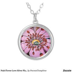 Shop Zazzle's Octopus necklaces for yourself or a loved one. Love Necklace, Pendant Necklace, Day Lilies, Round Pendant, Pink Flowers, Pocket Watch, Silver Plate, Lily, Octopus