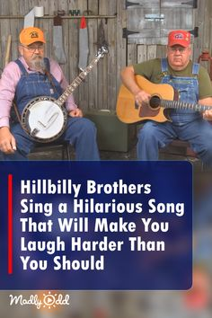 Two loveable grandpas will have you in stitches with their latest original song. The redneck songwriters have a knack for delivering hilarious little gems with deadpan faces. Funny Songs, Funny Video Memes, Funny Quotes, Bluegrass Music, Country Music Videos, Music Humor, Folk Music, Original Song, Music Songs