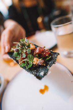 LIHOLIHO YACHT CLUB   San Francisco Restaurant - tuna poke, sesame oil, radish, nori cracker