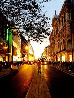 Autumn down Oxford Street