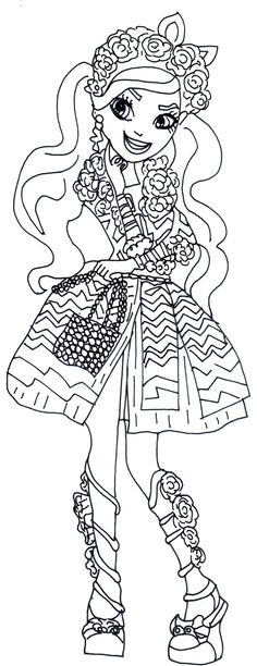 free printable after high coloring pages lizzie