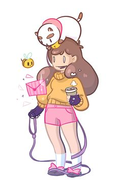 fan art fun times! jo-ley  This is adorable, jo-ley! Bee looks great in a turtleneck. If you have more Bee and PuppyCat fan art, click here if you want to submit it! -Kiki