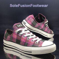 Converse All Star platform tartan plaid sneakers. Depop