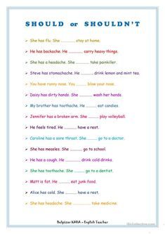 Should - Shouldn't worksheet - Free ESL printable worksheets made by teachers