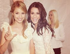 Diana Agron & Lea Michele . Love them both!