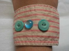 bracelet made of recycled fabric and button
