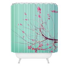 DENY Designs Home Accessories | Happee Monkee Red Stars Shower Curtain