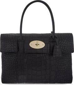MULBERRY - Bayswater croc leather tote bag | Selfridges.com