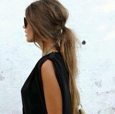 Scruffy low ponytail