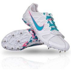 NIKE ZOOM RIVAL S 6 Track & Field Running Spikes Cleats Shoes blue pink Size 12