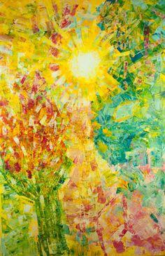SVÍTÁNÍ V RÁJI 100 x 150 cm Akryl na plátně 2017 www.zuzanakrovakova.cz SUNRISE IN PARADISE 100 x 150 cm Acrylic on canvas 2017 www.zuzanakrovakova.com