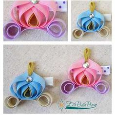Princess Carriage Hair Bows made with Grosgrain Ribbon