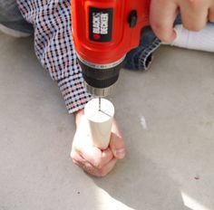 How to Install Hanger Bolts (And Turn Anything Into a Table Leg) – Plaster & Disaster Diy Table Legs, A Table, Furniture Legs, Cheap Furniture, Hanger Bolts, Easy Projects, Plaster, Getting Organized, Drill