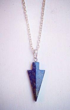 Lapis lazuli Arrowheads now available at www.WeAreVR.co.uk #handmade #jewellery #necklaces #chakra #healing #crystals #gems #gemstones #boho #bohemian #silver #fashion # costumejewellery #fashionjewellery #style #grunge #90s #stylist #wearevr