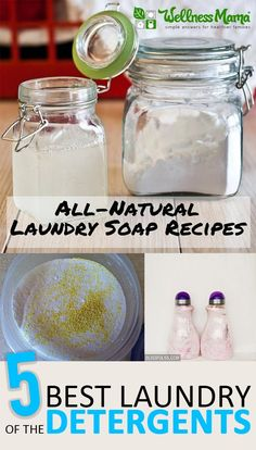 5 of the BEST DIY Laundry Detergents