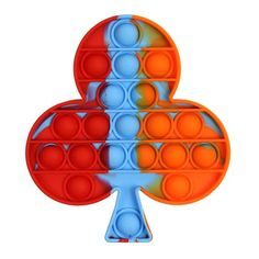 Squeeze Stress Reliever Toy Four Leaf Clovers.(Red) BESSENTIALS Push Pop Pop Bubble Toys Sensory Toys Silicone Stress Relief Toy