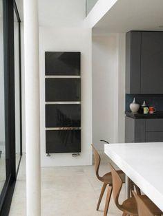 Marbella radiator in black marble finish