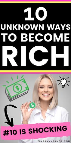 Wanna know how to be rich? You need to read this if you want to become rich! These are some REAL money tips that will help you develop an abundance and rich mindset! - Earn Money at home Ways To Save Money, How To Get Money, Money Tips, Make Money From Home, Money Saving Tips, Ways To Become Rich, How To Become Rich, Finance Tips, Money Management