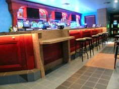 Restaurant Bar. Designers and builders of custom furniture and cabinetry. #customcabinets #bars #design