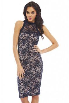 578177e65a1 Shop for Lace Contrast Dress by AX Paris at ShopStyle.