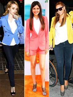 How to wear a pastel blazer.