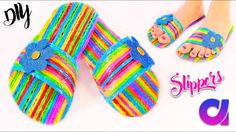 How to make drinking straw slippers at h. Diy Straw Crafts, Plastic Straw Crafts, Plastic Bottle Flowers, Diy Arts And Crafts, Diy Crafts For Kids, Crafts To Sell, Plastic Bottles, Straw Projects, Diy Projects