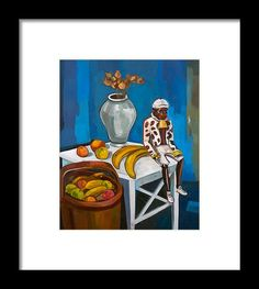 Still Life Framed Print featuring the painting The Monkey by Carmen Stanescu Kutzelnig Hanging Wire, Fine Art America, Monkey, Framed Prints, Painting, Life, Playsuit, Paintings, Monkeys