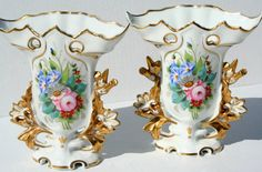 Vintage Vista Alegre VA Portugal Vases PAIR by FlyByNightVintage