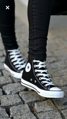 black shoes sneakers Black Sneakers - - - Black Sneakers Source by Shoespinnn Mode Converse, Sneakers Mode, Black Sneakers, Converse All Star, Sneakers Fashion, Sneakers Style, Converse Sneakers, Converse Shoes Outfit, Converse Shoes High Top