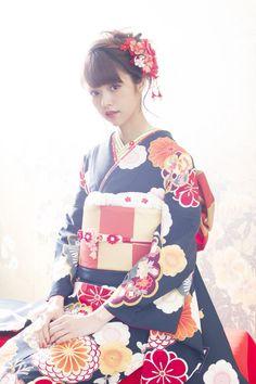 Embedded image Yukata Kimono, Oriental, Japanese, Traditional, Female, Fashion, Beauty, Moda, Japanese Language