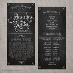 Nostalgic Imprints Inc. - Wedding Program - Vintage Chalkboard 1, $1.75 (http://www.nostalgicimprints.com/ceremony-reception/ceremony-program/wedding-program-vintage-chalkboard-1/)