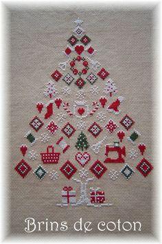 Punto de cruz Gráfico del árbol de navidad Árbol / Navidad Cruz Invierno Nuestro diseño:
