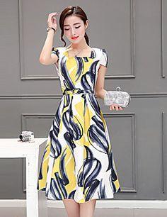 324063dc4 De las mujeres Vaina Vestido Casual Diario Vintage