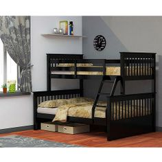 Dallan Twin Over Full Bunk Bed, Black